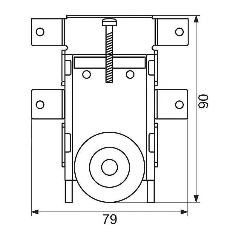 Kit de galet roulette pour porte coulissante x 2 sanilandes - Roulettes pour portes de placard coulissantes ...