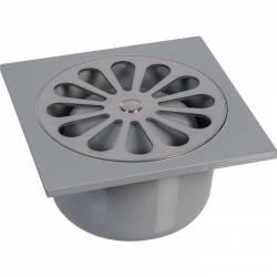 siphon sol en ABS gris ou chromé modèle Pro plusieurs dimensions disponibles