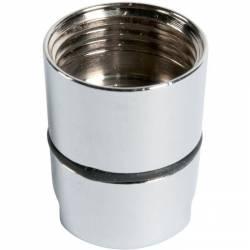 Ecrou conique laiton chromé 15x21 raccordement sanitaire