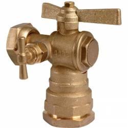 robinet équerre après compteur à purge pour PE Ø 25