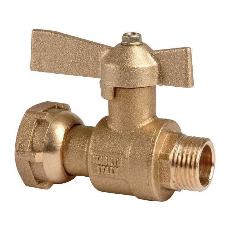 Robinet compteur d 39 eau droit mf boisseau sph rique avant ou apr s compteur sanilandes - Reducteur de pression d eau apres compteur ...