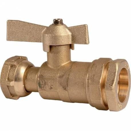 robinet vanne de compteur pour PE avant ou après