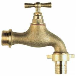 """robinet d'arrosage laiton brut  MM 15x21 1/2"""""""