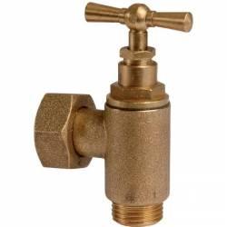 robinet équerre avant compteur tête à potence mâle 15x21