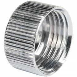 Ecrou cylindrique en laiton chromé pour flexible au mètre Ø 15x21