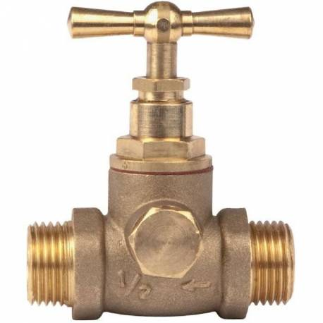 robinet d'arrêt 2 bouchons +épaulement mm15x21