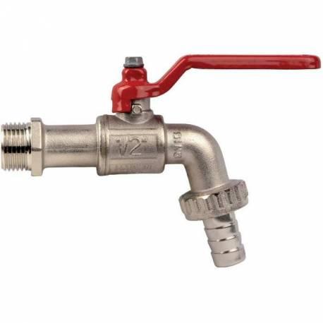 robinet à boisseau sphérique poignée aluminium mâle 15x21