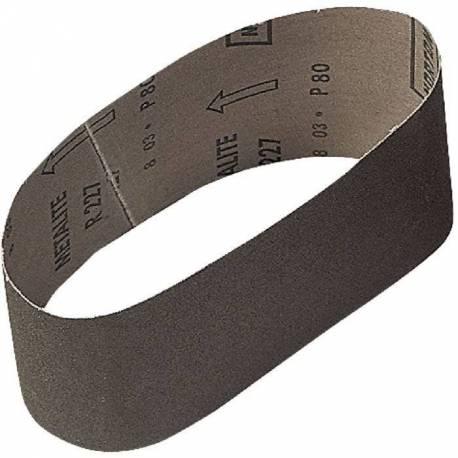 Bande abrasive 100 x 560 mm grain de 80  x3 bandes