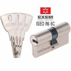 cylindre de sureté ISEO R6 5C  marque EXEM finition nickelé