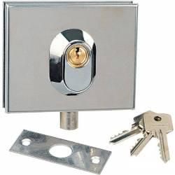 serrure STREAMLER basse pour porte en verre de 8 à 10 mm