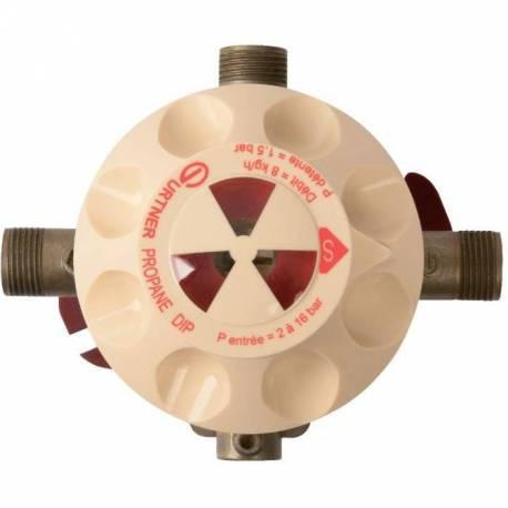 Détendeur inverseur automatique DIP propane 8kg/h Gurtner