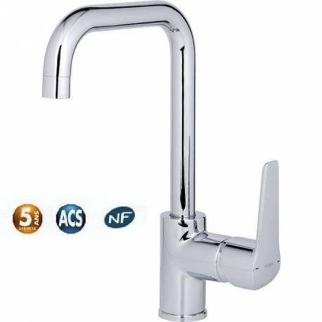 mitigeur lavabo PYLA bec haut sans vidage cartouche céramique C3
