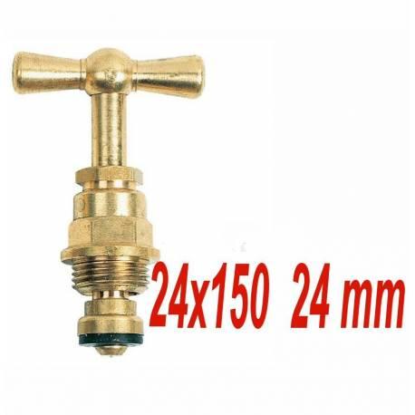 tête de robinet laiton à potence 24x150 filetage 24 mm