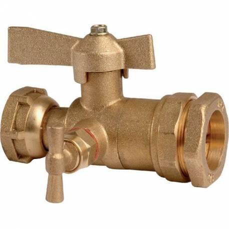 robinet d 39 arret apr s compteur d 39 eau purge pour tube tuyau pe sanilandes. Black Bedroom Furniture Sets. Home Design Ideas