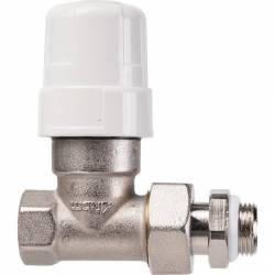 robinet radiateur corps droit pour thermostatique  3/8'' 12x17
