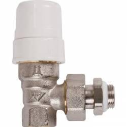 """robinet radiateur corps équerre pour thermostatique M30  3/8'' ou 1/2"""""""