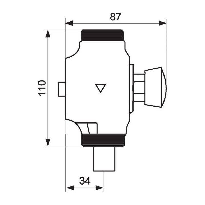 robinet presto clair bouton poussoir pour presto 13001 sanilandes. Black Bedroom Furniture Sets. Home Design Ideas