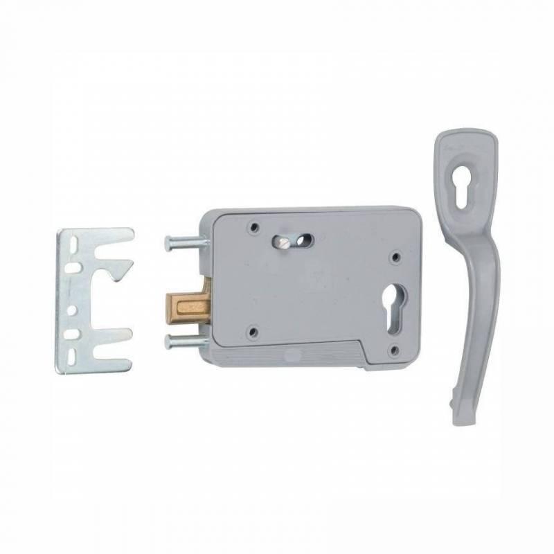 Serrure porte de garage p ne relevable r versible gauche ou droite sanilandes - Porte coulissante electrique ...