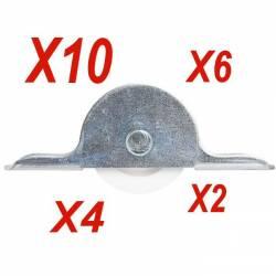 galets à roulette en nylon épaisseur 11 mm vendu par lot 2/4/6/10
