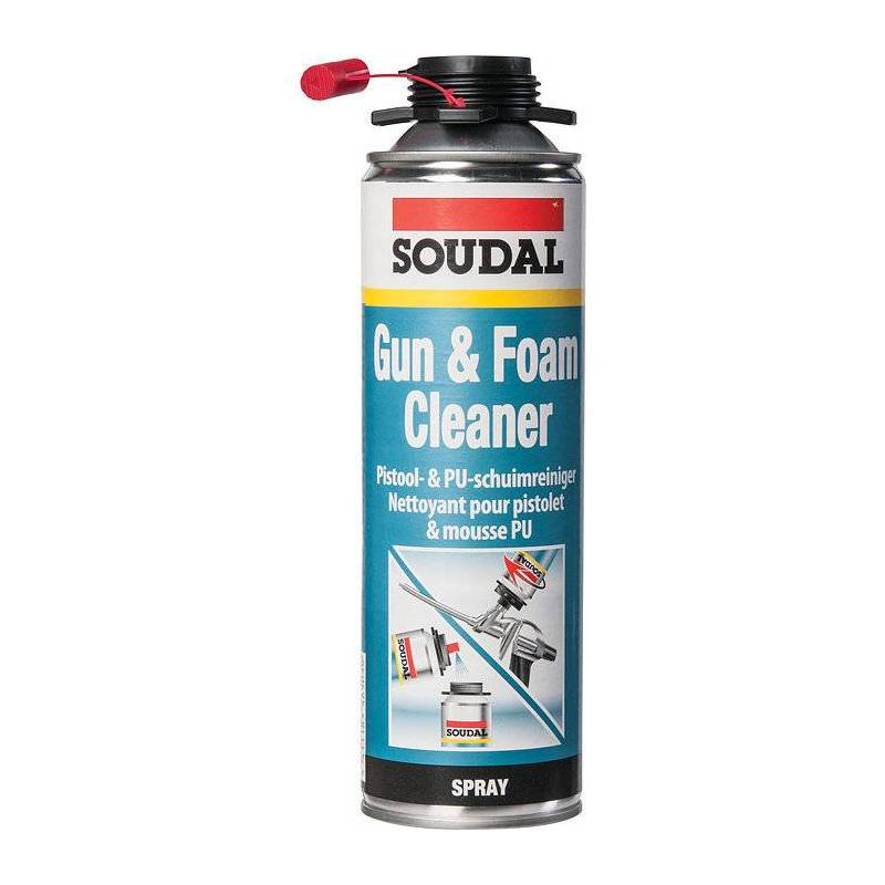 nettoyant pistolet pour mousse polyur thane gun vis soudal 500 ml sanilandes. Black Bedroom Furniture Sets. Home Design Ideas