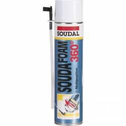 Mousse d'étanchéité PU Soudafoam 360° de marque SOUDAL 510 ml
