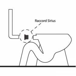 raccord WC SIRIUS N°1 jonction réservoir attenant et cuvette