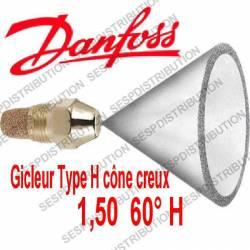 gicleur DANFOSS H 1,50 60° H réference 030H6928 nozzle Danfoss H