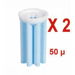 Lot de 2 filtres tamis synthétique 50 microns AFRISO pour filtre chaudière fioul