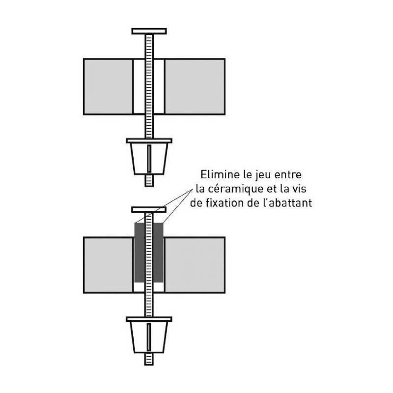 2 compensateur de fixation lunette de wc abattant de. Black Bedroom Furniture Sets. Home Design Ideas