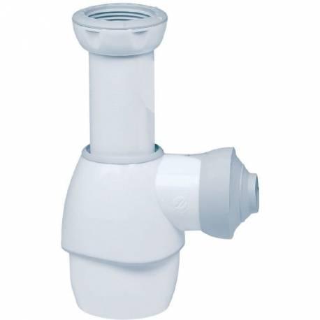 siphon universel bidet lavabo évier blanc / gris