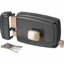 serrure porte de garage modèle en aplique axe 70 mm droite ou gauche