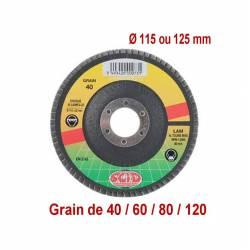 Disque à lamelles zirconium Ø 115 ou Ø 125 mm différents grains disponibles