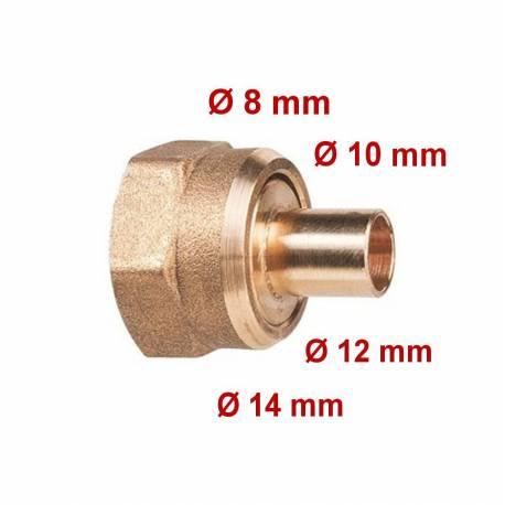 Raccord gaz 2 pièces à souder femelle 20x150 différents diamètre de tube disponibles