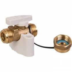 robinet gaz r.o.a.i double mâle ½'' automatique intégrée avec bouchon