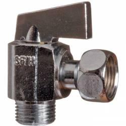 """Robinet WC robinet d'arrêt 1/4 de tour équerre manette métal MF 3/8"""""""