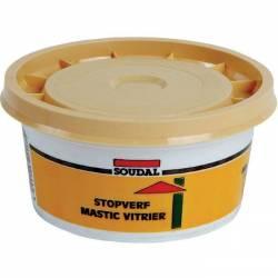 Mastic de vitrier SOUDAL naturel brun à base d'huile de lin  500 gr ou 1 Kg