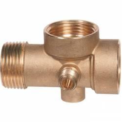 raccord laiton pour pompe de forage 5 entrées sorties d'eau pour raccorder un pressostat et un manomètre