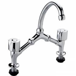 mélangeur 2 trous pour évier ou lavabo tête à clapet